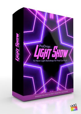 Final Cut Pro X Plugin ProDrop Light Show from Pixel Film Studios