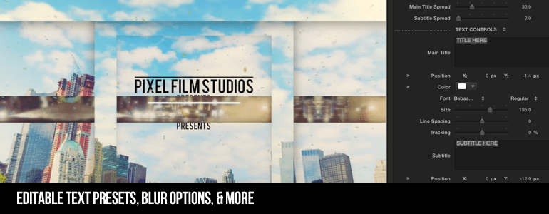 Professional - Parallax Panel Transition - for Final Cut Pro X