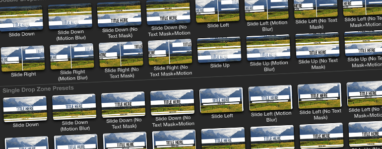 Professional - Scrolling Transition - for Final Cut Pro X