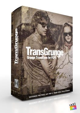 Final Cut Pro X Plugin TransGrunge from Pixel Film Studios