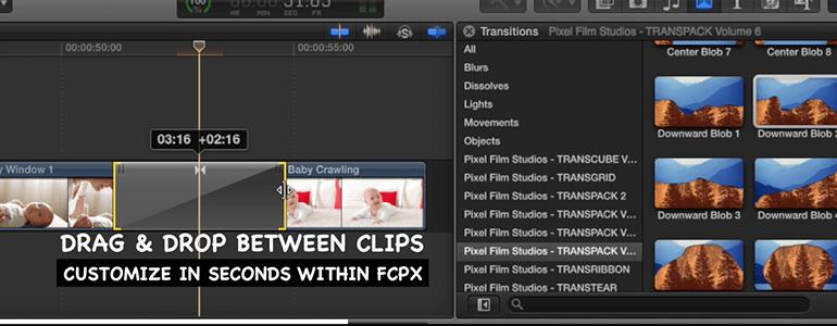 Professional - Blob Transition - for Pixel Film Studios