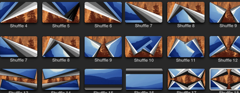 Professional - Shuffle Transition - for Final Cut Pro X