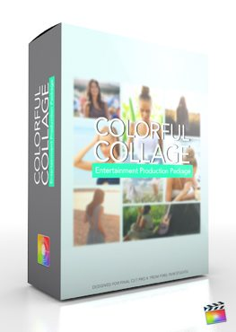 Final Cut Pro X Plugin Production Package Colorful Collage from Pixel Film Studios