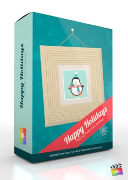 Final Cut Pro X Plugin Production Package Happy Holidays from Pixel Film Studios