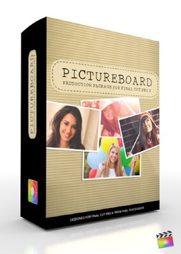 Final Cut Pro X Plugin Production Package Panel Pictureboard from Pixel Film Studios