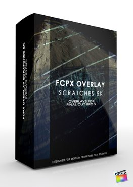 Final Cut Pro X Plugin FCPX Overlay Scratches 5K from Pixel Film Studios