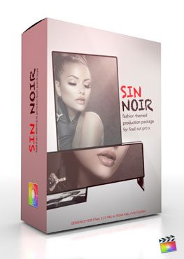 Final Cut Pro X Plugin Production Package Theme Sin Noir from Pixel Film Studios
