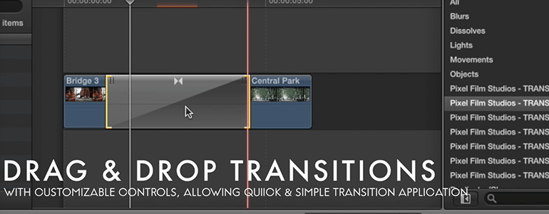 Professional - Glass Transitions for Final Cut Pro X