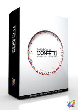 Apple Motion 5 Plugin InMotion 3D Confetti from Pixel Film Studios
