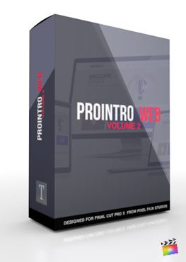 Final Cut Pro X Plugin ProIntro Web Volume 2 from Pixel Film Studios
