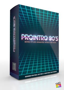 Final Cut Pro X Plugin ProIntro 80s from Pixel Film Studios