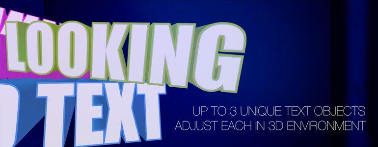 Professional - 3D Text Plugin for Final Cut Pro X - for Final Cut Pro X