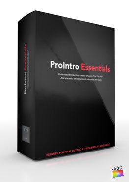Final Cut Pro X Plugin ProIntro Essentials from Pixel Film Studios