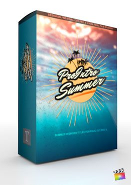 Final Cut Pro X Plugin ProIntro Summer from Pixel Film Studios