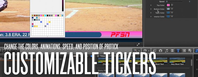 Professional - Sports Ticker for Final Cut Pro X - for Final Cut Pro X