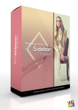 Final Cut Pro X Plugin ProSidebar Fashion from Pixel Film Studios