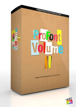 Final Cut Pro X Plugin ProFont Volume 3 from Pixel Film Studios