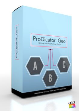 Final Cut Pro X Plugin ProDicator Geo from Pixel Film Studios