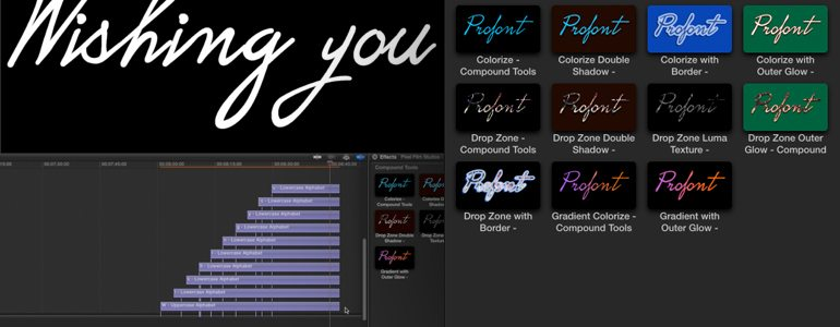 Professional - Typography - for Final Cut Pro X