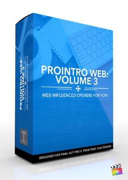 Final Cut Pro X Plugin Production Package ProIntro Web Volume 3 from Pixel Film Studios