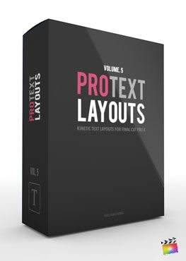 Final Cut Pro X Plugin ProText Layouts Volume 5 from Pixel Film Studios