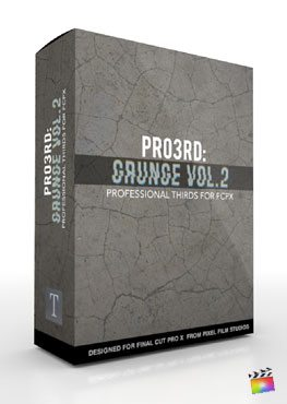 Final Cut Pro X Plugin Pro3rd Grunge Volume 2 from Pixel Film Studios