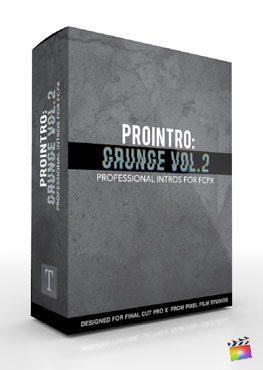 Final Cut Pro X Plugin ProIntro Grunge Volume 2 from Pixel Film Studios