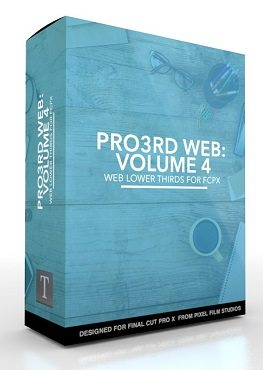 Final Cut Pro X Plugin Pro3rd Web Volume 4 from Pixel Film Studios