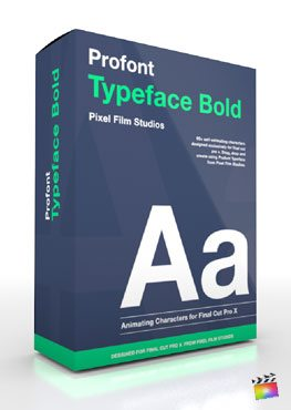 Final Cut Pro X Plugin Production Package ProFont Typeface Bold from Pixel Film Studios