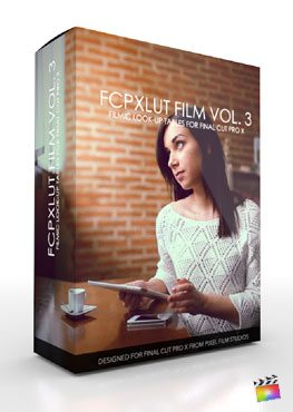 Final Cut Pro X Plugin FCPX LUT Film Volume 3 from Pixel Film Studios