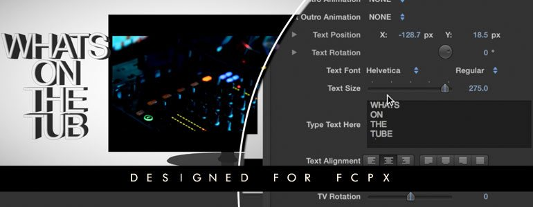 ProFessional Flat-Panel TV Presentation Generators for Final Cut Pro X from Pixel Film Studios