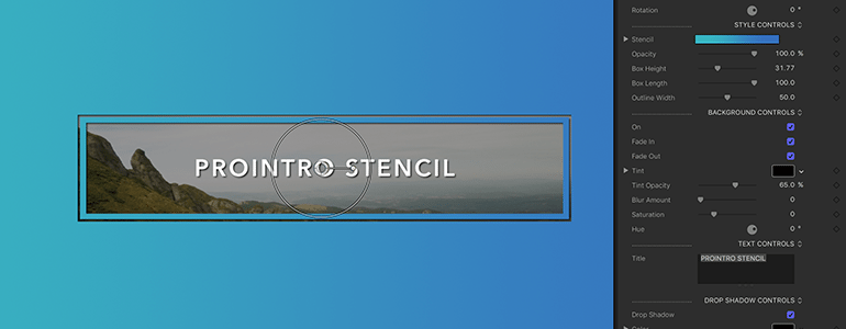 Final Cut Pro X Plugin ProIntro Stencil from Pixel Film Studios
