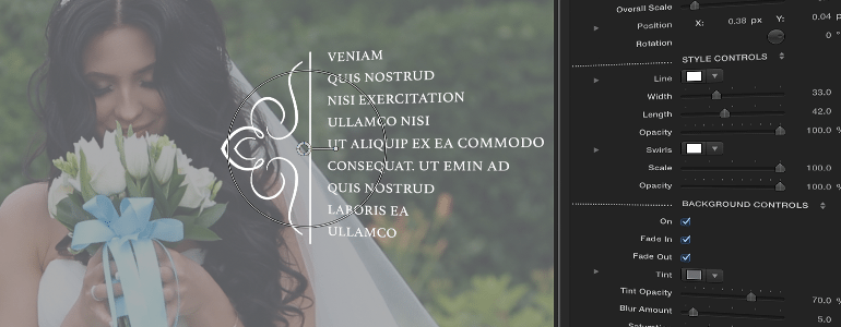 Final Cut Pro X Plugin ProParagraph: Wedding from Pixel Film Studios