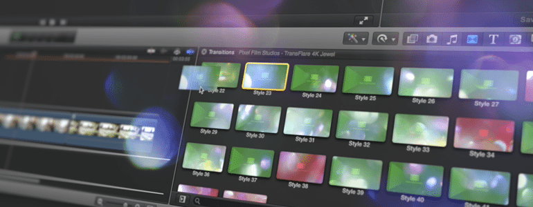 Final Cut Pro X Plugin TranFlare 4K: Jewel