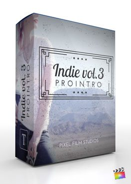 Final Cut Pro X Plugin ProIntro Indie Volume 3 from Pixel Film Studios