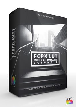 Final Cut Pro X Plugin FCPX LUT Monochromatic Volume 2 from Pixel Film Studios