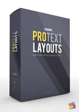Final Cut Pro X Plugin ProText Layouts Shadows from Pixel Film Studios