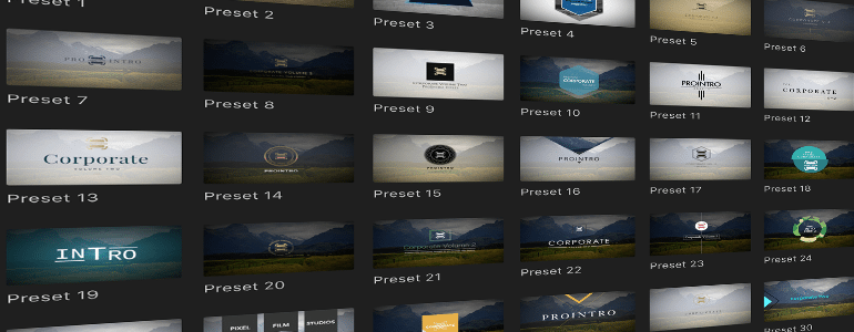 Final Cut Pro X Plugin ProIntro Web Corporate Volume 2 from Pixel Film Studios
