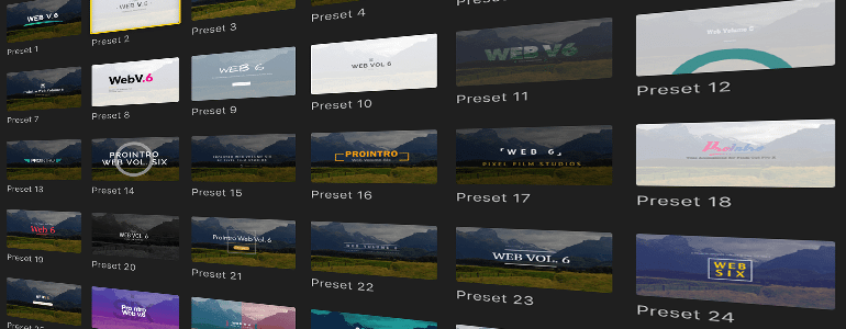 Final Cut Pro X Plugin ProIntro Web Volume 6 from Pixel Film Studios