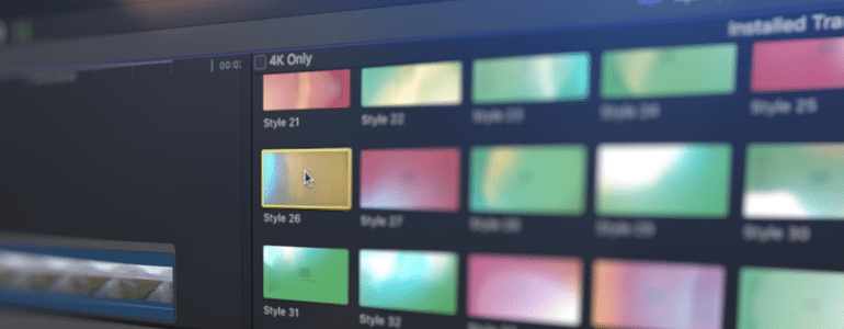 Final Cut Pro X Plugin TransFlare Color Shift 4K