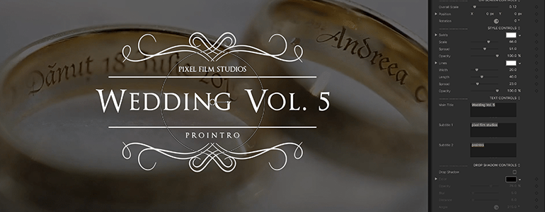 Final Cut Pro X Plugin ProIntro Web Wedding Volume 5 from Pixel Film Studios