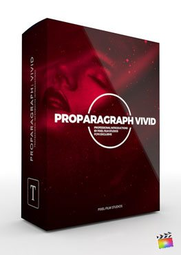 Final Cut Pro X Plugin ProParagraph Vivid from Pixel Film Studios