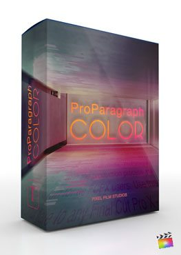 Final Cut Pro X Plugin ProParagraph Color from Pixel Film Studios