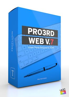 Final Cut Pro X Plugin Pro3rd Web Volume 7 from Pixel Film Studios