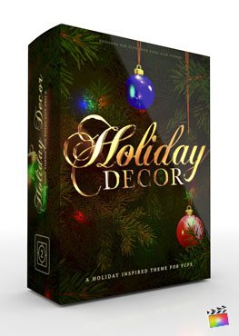 Final Cut Pro X theme Holiday Decor from Pixel Film Studios