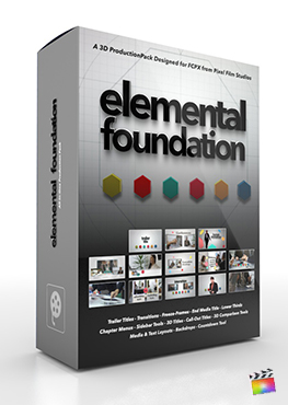 Final Cut Pro X Plugin Elemental Foundation 3D Production Package from Pixel Film Studios