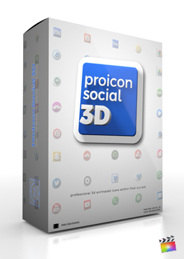 Final Cut Pro X Plugin ProIcon Social 3D from Pixel Film Studios