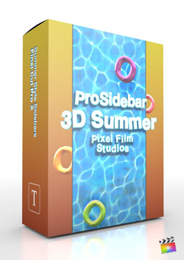 Final Cut Pro X Plugin ProSidebar 3D Summer from Pixel Film Studios