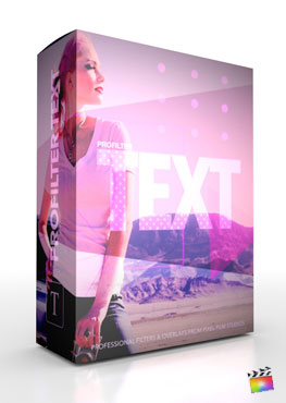 Final Cut Pro X Plugin ProFilter Text from Pixel Film Studios