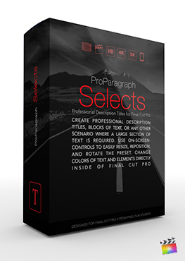 Final Cut Pro Plugin - ProParagraph Selects